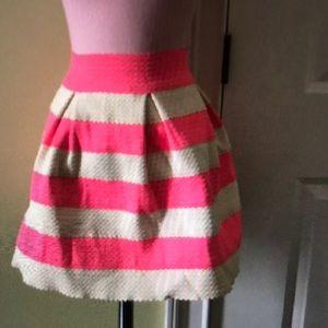 Pink stripped skirt